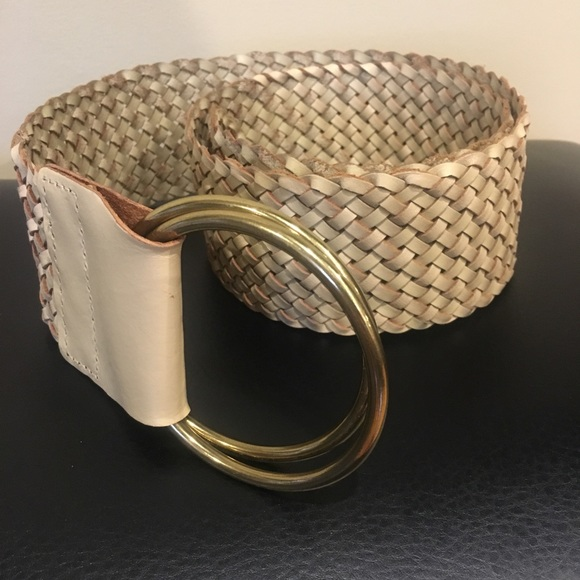 d94c633ab88a Linea Pelle Accessories - Designer LINEA PELLE Wide Woven Leather Belt